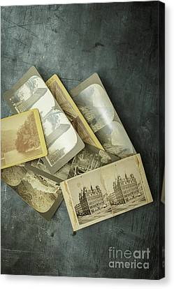 Memories Old Stereograph Photographs Canvas Print by Edward Fielding