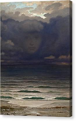Memory Canvas Print by Elihu Vedder