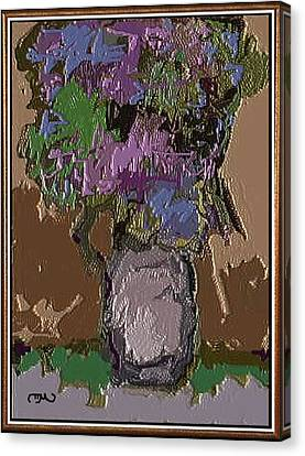 Memory For Flowers Mof 4 Canvas Print by Pemaro