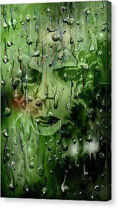Canvas Print featuring the digital art Memory In The Rain by Darren Cannell