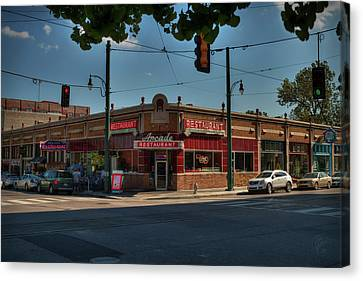 Canvas Print featuring the photograph Memphis - Arcade Restaurant 001 by Lance Vaughn