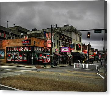 Memphis - Beale Street 002 Canvas Print by Lance Vaughn