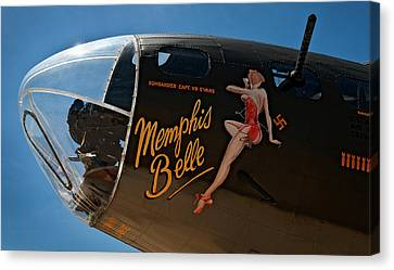 Memphis Belle Nose Art Canvas Print by Murray Bloom