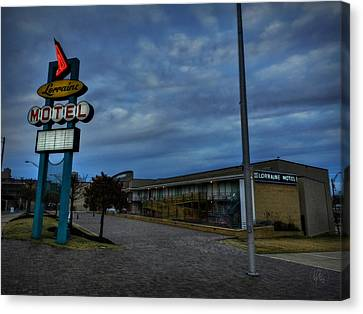Memphis - Dark Clouds Over The Lorraine Motel Canvas Print by Lance Vaughn