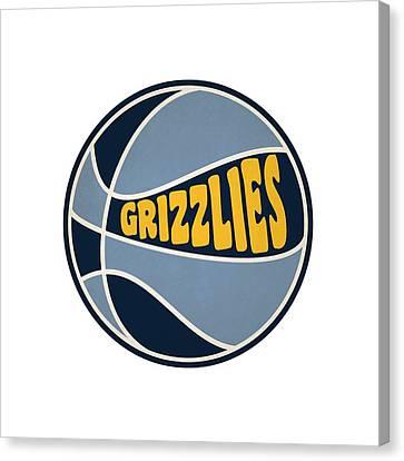 Memphis Grizzlies Retro Shirt Canvas Print