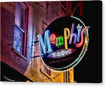 Roy Orbison Canvas Print - Memphis Music by Stephen Stookey