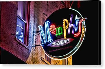 Roy Orbison Canvas Print - Memphis Neon by Stephen Stookey