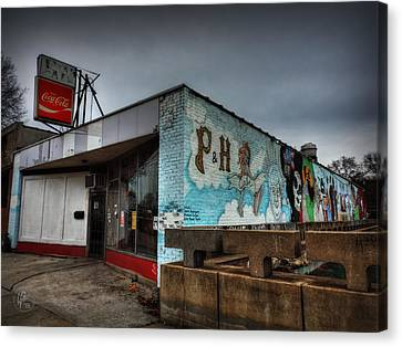 Memphis - P And H Cafe 001 Canvas Print by Lance Vaughn