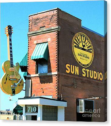 Rhythm And Blues Canvas Print - Memphis Sun Studio Birthplace Of Rock And Roll 20160215 Square by Wingsdomain Art and Photography