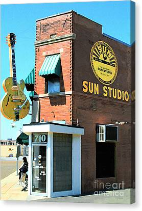 Rhythm And Blues Canvas Print - Memphis Sun Studio Birthplace Of Rock And Roll 20160215 by Wingsdomain Art and Photography