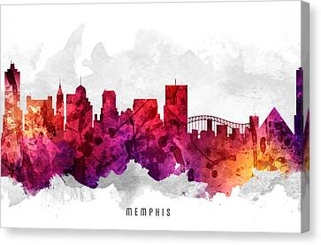 Memphis Tennessee Cityscape 14 Canvas Print