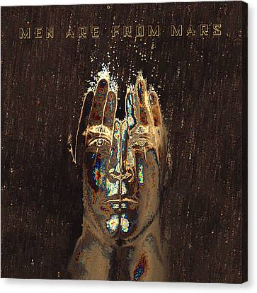 Men Are From Mars Gold Canvas Print by ISAW Gallery
