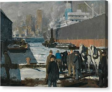 Men Of The Docks Canvas Print