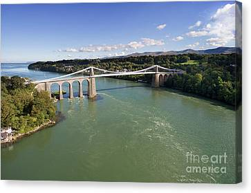 Menai Bridge 1 Canvas Print by Steev Stamford