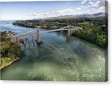 Menai Bridge 2 Canvas Print by Steev Stamford