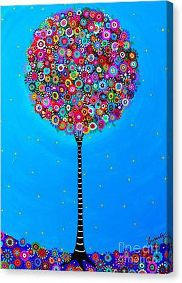 Canvas Print featuring the painting Purpose Of Life by Pristine Cartera Turkus