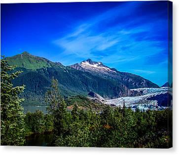 Mendenhall Glacier Alaska Canvas Print by Scott McGuire