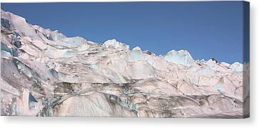 Canvas Print featuring the photograph Mendenhall Glacier Panoramic by Kristin Elmquist