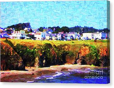 Mendocino Bluffs Canvas Print by Wingsdomain Art and Photography