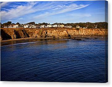 Mendocino Coastal Town Canvas Print by Garry Gay