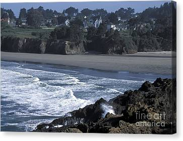 Canvas Print featuring the photograph Mendocino  by Stan and Anne Foster