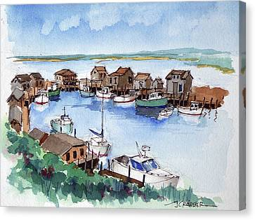 Menemsha Safe Haven Canvas Print by John Crowther