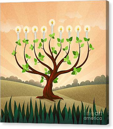 Menorah Tree Canvas Print