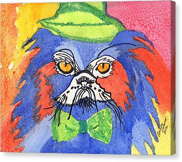 Meow Canvas Print by Connie Valasco