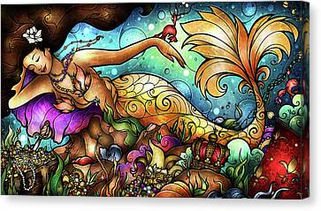 Mer De Lis Canvas Print by Mandie Manzano