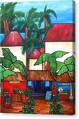 Mercado En Puerto Rico Canvas Print by Patti Schermerhorn