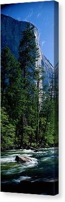 Natural Resources Canvas Print - Merced River And El Capitan Yosemite by Panoramic Images