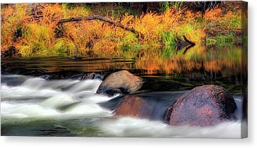 Merced River Autumn Canvas Print by Floyd Hopper