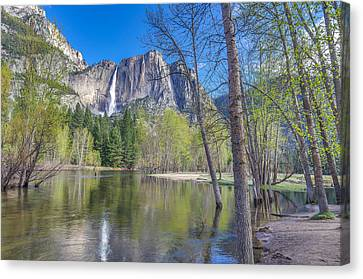 Canvas Print featuring the photograph Merced River In Spring by Scott McGuire