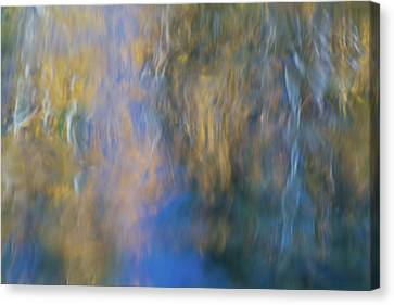 Merced River Reflections 15 Canvas Print by Larry Marshall