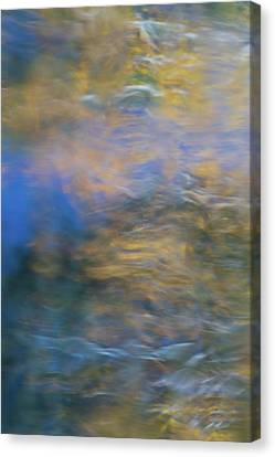 Rivers In The Fall Canvas Print - Merced River Reflections 18 by Larry Marshall
