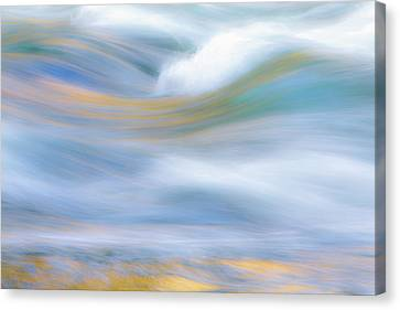Rivers In The Fall Canvas Print - Merced River Reflections 19 by Larry Marshall