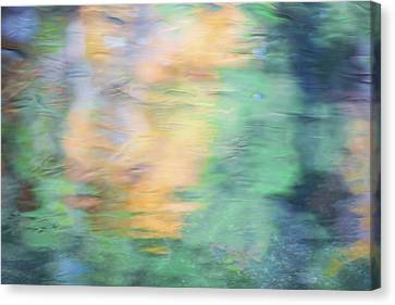 Merced River Reflections 7 Canvas Print by Larry Marshall