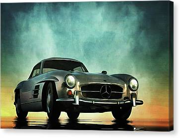 Mercedes 300sl Canvas Print by Jan Keteleer