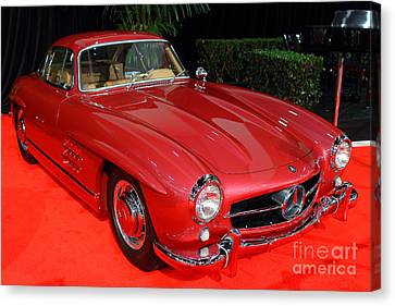 Mercedes 300sl . Red . 7d9172 Canvas Print by Wingsdomain Art and Photography