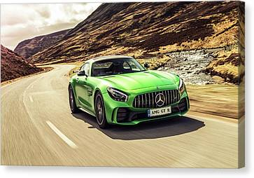 Mercedes A M G  G T  R Canvas Print by Movie Poster Prints