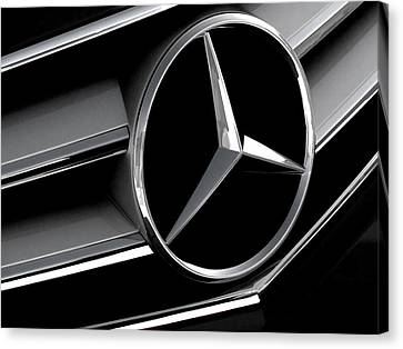Mascots Canvas Print - Mercedes Badge by Douglas Pittman