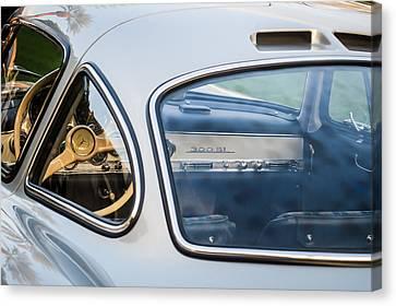 Mercedes-benz 300sl Steering Wheel -0142c Canvas Print by Jill Reger