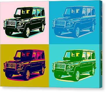 Mercedes Benz G Class Pop Art Canvas Print