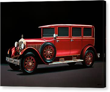 Mercedes-benz Typ 300 Pullman Limousine 1926 Painting Canvas Print by Paul Meijering