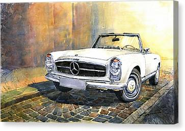 Mercedes Benz W113 280 Sl Pagoda Front Canvas Print by Yuriy  Shevchuk