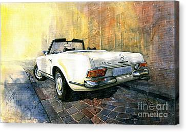 Mercedes Benz W113 280 Sl Pagoda Canvas Print by Yuriy  Shevchuk