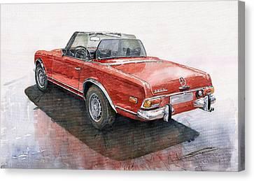 Mercedes Benz W113 Sl280 Canvas Print by Yuriy  Shevchuk