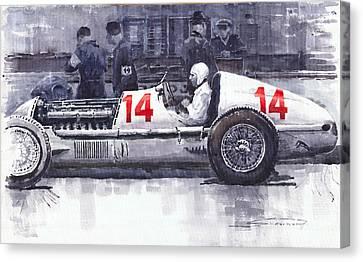 Mercedes W25c Monaco Gp 1936 Manfred Von Brauchitsch Canvas Print by Yuriy  Shevchuk