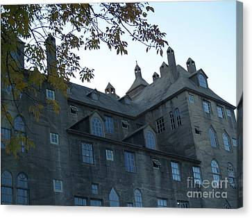 Mercer Museum At Dusk In Doylestown Pa Canvas Print