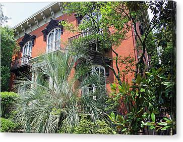 Mercer Williams House-savannah Ga Canvas Print by Suzanne Gaff